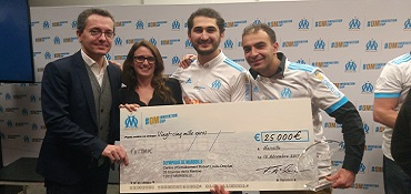 Futbak, les gagnants de l'OM Innovation Cup